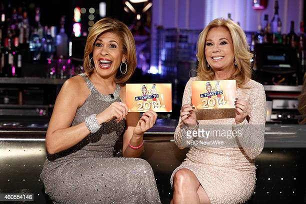 Toast to 2014 Hosted by Kathie Lee Gifford and Hoda Kotb Pictured Hoda Kotb Kathie Lee Gifford