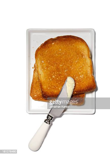 Toast with Butter Knife
