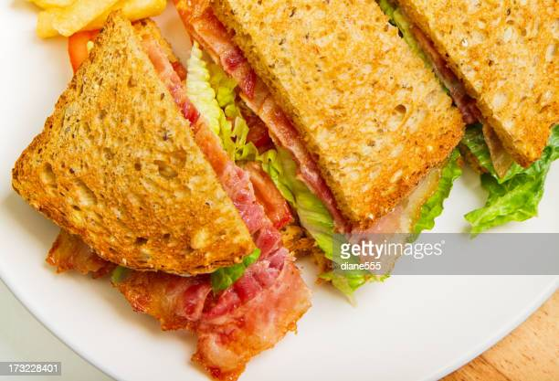 Toasted Bacon Letuce And Tomato On Whole Grain Bread