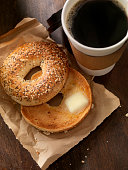 Toasted Bagel with Butter