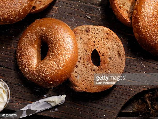 Toasted Bagels with Butter