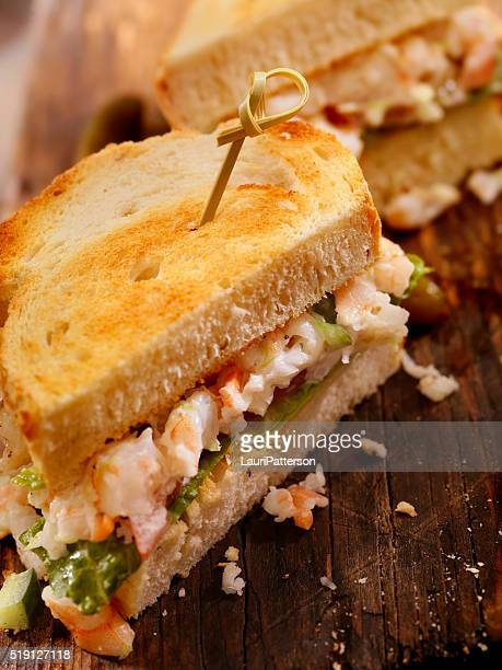 Toasted Seafood Salad Sandwich