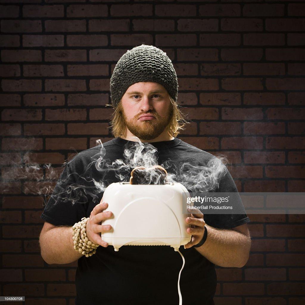 toaster explosion : Stock Photo