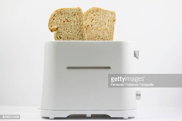 Toaster with two slices of bread