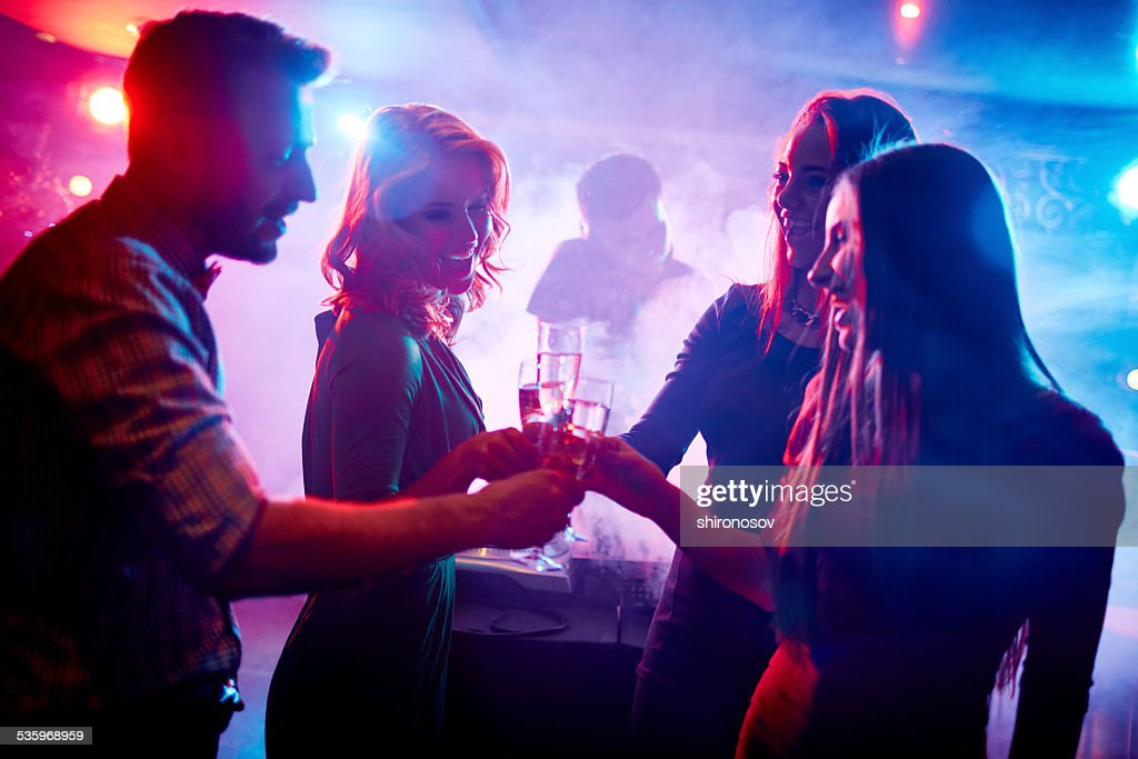 Toasting at party : Stock Photo