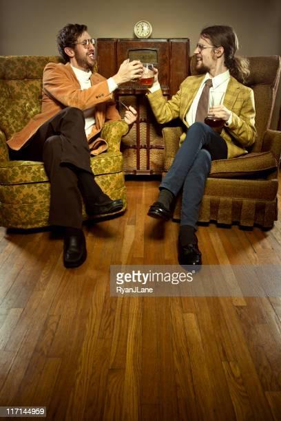 Anstoßen Vintage Business-Männer