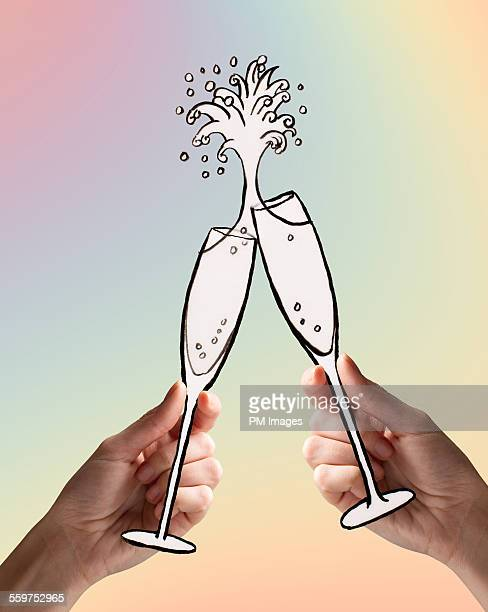 Toasting with Illustrated Champagne