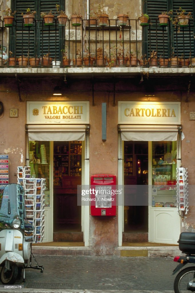 Tobacco and Card Shops