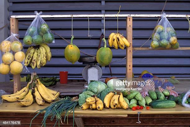Tobago Scarborough Market Scene Fruits Produce
