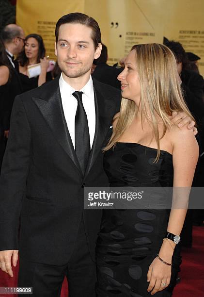 Tobey Maguire and Jennifer Meyer during The 79th Annual Academy Awards Arrivals at Kodak Theatre in Hollywood California United States