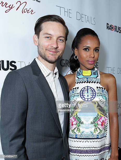 Tobey Maguire and Kerry Washington at RADiUSTWC 'he Details' Premiere hosted by GREY GOOSE Vodka held at The ArcLight Cinemas on October 29 2012 in...