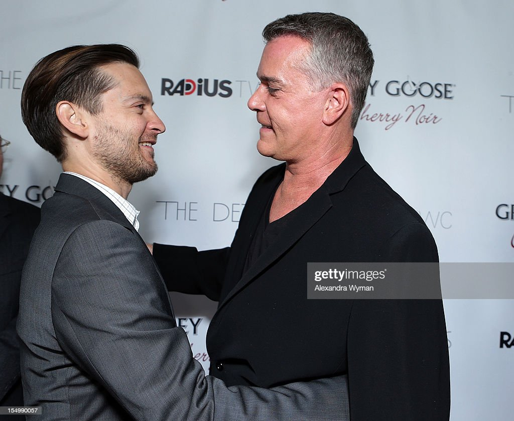 <a gi-track='captionPersonalityLinkClicked' href=/galleries/search?phrase=Tobey+Maguire&family=editorial&specificpeople=203015 ng-click='$event.stopPropagation()'>Tobey Maguire</a> and <a gi-track='captionPersonalityLinkClicked' href=/galleries/search?phrase=Ray+Liotta&family=editorial&specificpeople=211136 ng-click='$event.stopPropagation()'>Ray Liotta</a> at RADiUS-TWC 'he Details' Premiere hosted by GREY GOOSE Vodka held at The ArcLight Cinemas on October 29, 2012 in Hollywood, California.