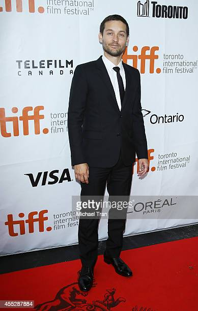 Tobey Maguire arrives at the premiere of Pawn Sacrifice held during the 2014 Toronto International Film Festival Day 8 on September 11 2014 in...