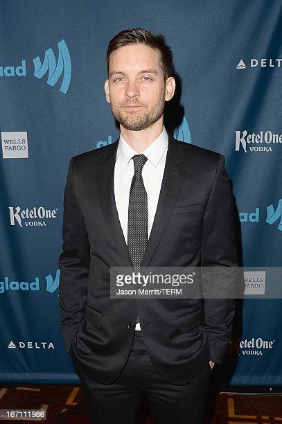 Tobey Maguire attends the 24th Annual GLAAD Media Awards at JW Marriott Los Angeles at LA LIVE on April 20 2013 in Los Angeles California