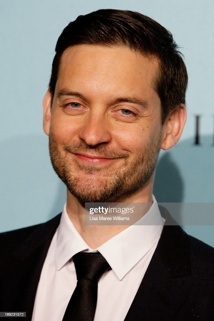 <a gi-track='captionPersonalityLinkClicked' href=/galleries/search?phrase=Tobey+Maguire&family=editorial&specificpeople=203015 ng-click='$event.stopPropagation()'>Tobey Maguire</a> attends the 'Great Gatsby' Australian premiere at Moore Park on May 22, 2013 in Sydney, Australia.