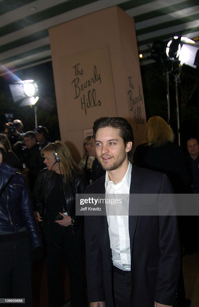 Tobey Maguire during Seabiscuit DVD Launch - Arrivals at The Polo Lounge at the Beverly Hills Hotel in Beverly Hills, California, United States.