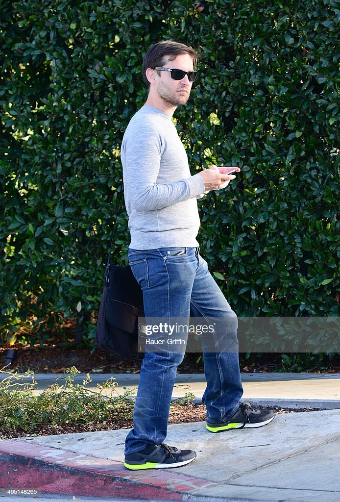 Tobey Maguire is seen on January 25, 2014 in Los Angeles, California.