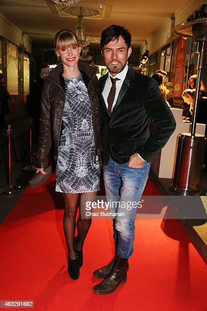 Tobey Wilson and Sabrina Gehrmann attend the 99Fire Film Awards during the 65th Berlinale International Film Festival at Admiralspalast on February...