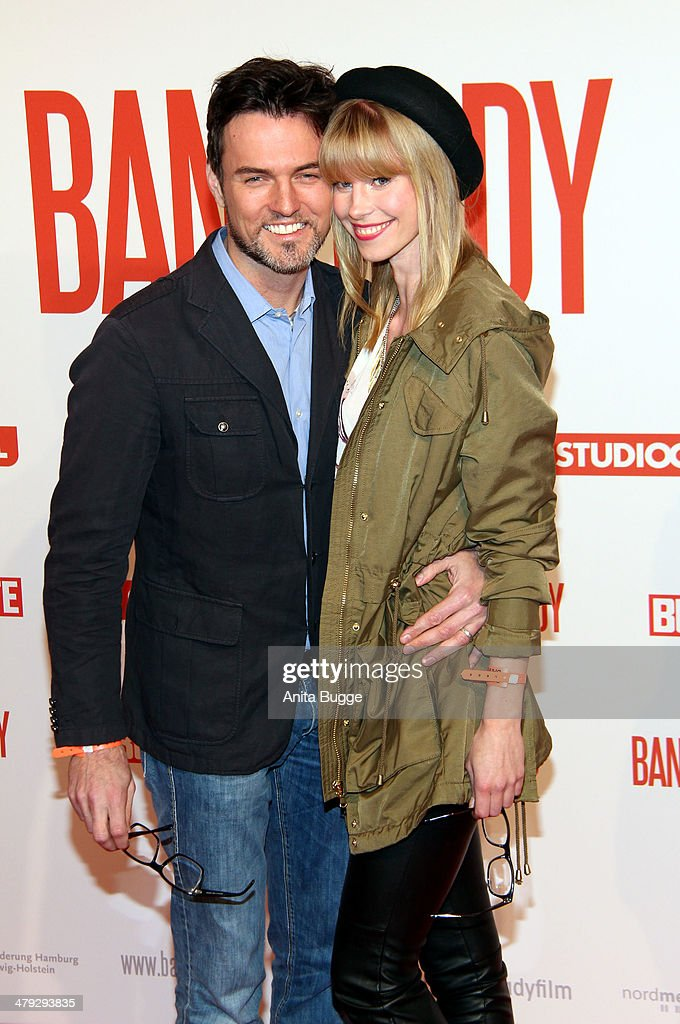 Tobey Wilson and Sabrina Gehrmann attend the 'Banklady' premiere at Kino International on March 17, 2014 in Berlin, Germany.