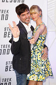 Tobey Wilson and Sabrina Gehrmann attend the VIP screening of the film 'Star Trek Beyond' at Zoopalast on July 19 2016 in Berlin Germany