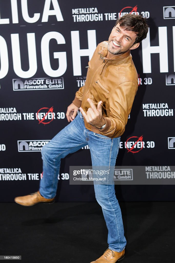 Tobey Wilson attends the German premiere of 'Metallica - Through The Never' on on September 12, 2013 in Berlin, Germany.