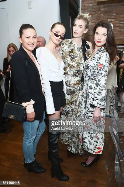 Tobi Henney Annabella Barber Zanita Whittington and Katie Ball attend THE OUTNET In Residence Dinner on November 7 2017 in New York City