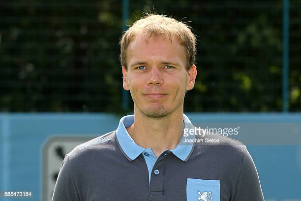 Tobias Adams poses during the official team presentation of TSV 1860 Muenchen at Trainingsgelaende on July 22 2016 in Munich Germany