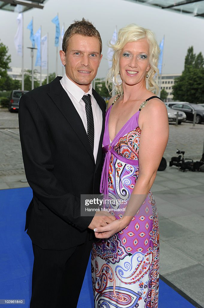 <a gi-track='captionPersonalityLinkClicked' href=/galleries/search?phrase=Tobias+Angerer&family=editorial&specificpeople=724015 ng-click='$event.stopPropagation()'>Tobias Angerer</a> and his wife Romy attend the Bavarian Sport Award 2010 at the International Congress Center Munich on July 17, 2010 in Munich, Germany.
