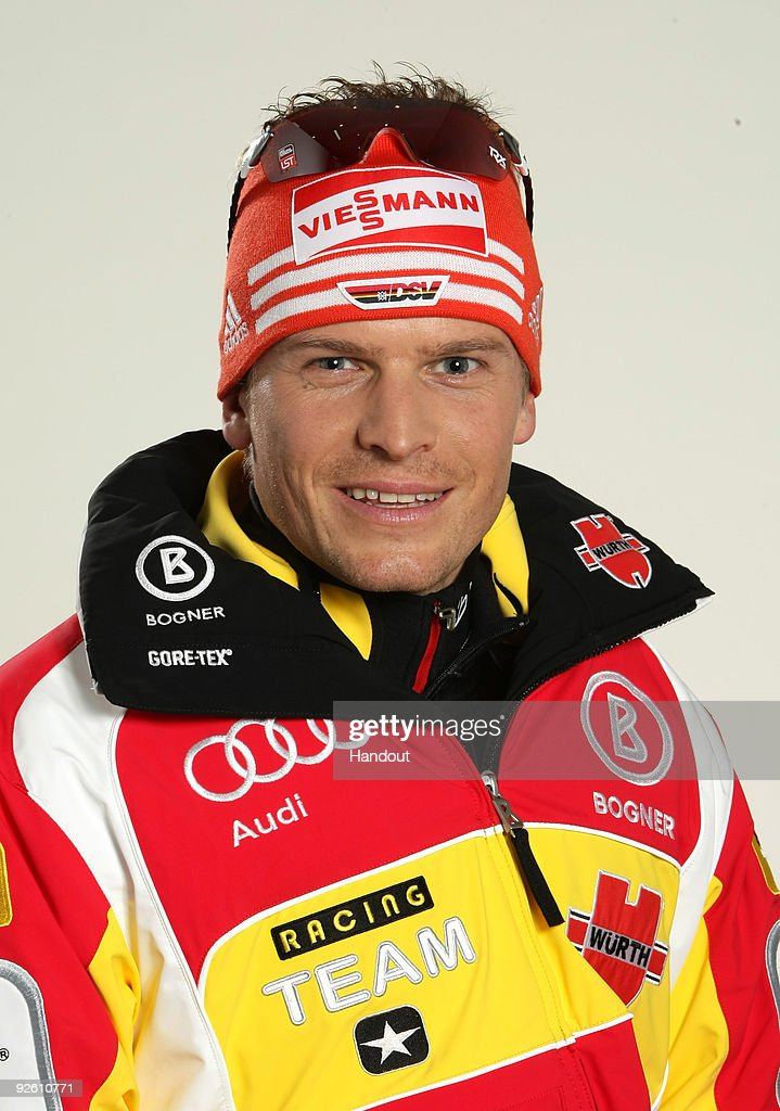 <a gi-track='captionPersonalityLinkClicked' href=/galleries/search?phrase=Tobias+Angerer&family=editorial&specificpeople=724015 ng-click='$event.stopPropagation()'>Tobias Angerer</a> poses during a photocall at the German athlete Winter kit preview at the adidas Brand Center on October 28, 2009 in Herzogenaurach, Germany.