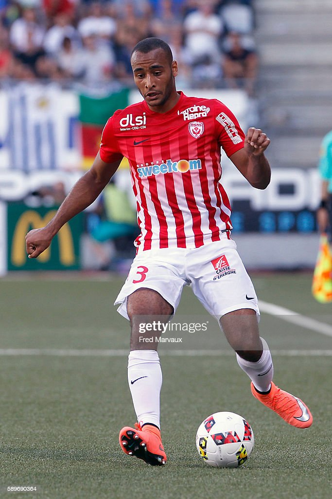 Tobias Badila of Nancy during the football Ligue 1 match between As Nancy Lorraine and Olympique Lyonnais Lyon at Stade Marcel Picot on August 14...
