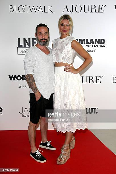Tobias Bojko and Annika Gassner attend the AJOURE Berlin Fashion Week Opening Party at LNFA Space Bikini Berlin on July 6 2015 in Berlin Germany