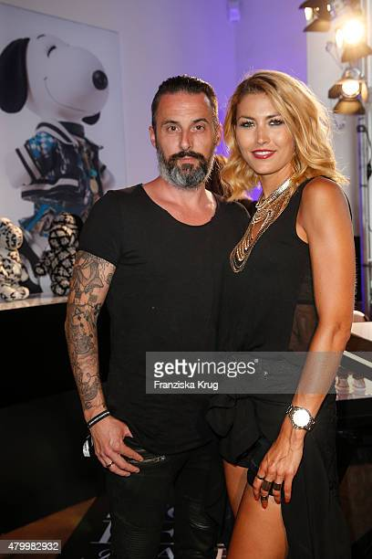 Tobias Bojko and Fiona Erdmann attend Snoopy Belle Vernissage at MercedesBenz Fashion Week Berlin Spring/Summer 2016 at Ermelerhaus on July 08 2015...