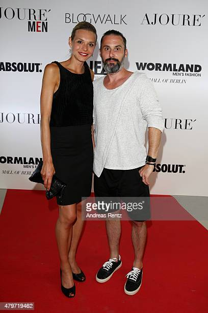 Tobias Bojko attends the AJOURE Berlin Fashion Week Opening Party at LNFA Space Bikini Berlin on July 6 2015 in Berlin Germany