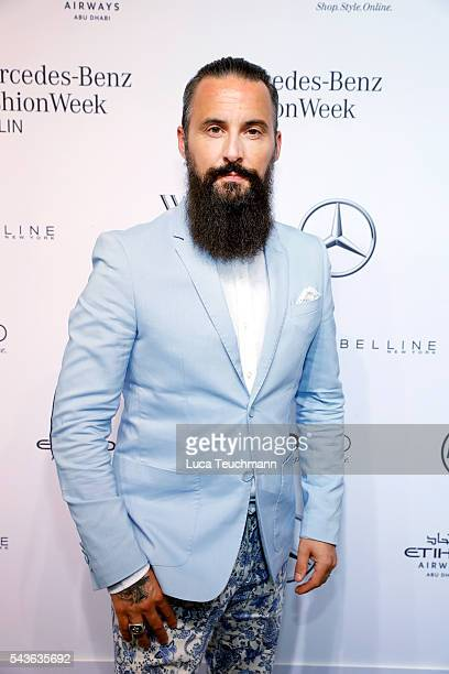 Tobias Bojko attends the Guido Maria Kretschmer show during the MercedesBenz Fashion Week Berlin Spring/Summer 2017 at Erika Hess Eisstadion on June...