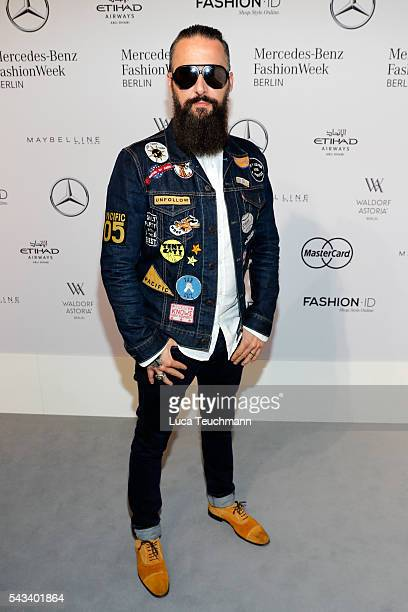 Tobias Bojko attends the Steinrohner show during the MercedesBenz Fashion Week Berlin Spring/Summer 2017 at Erika Hess Eisstadion on June 28 2016 in...