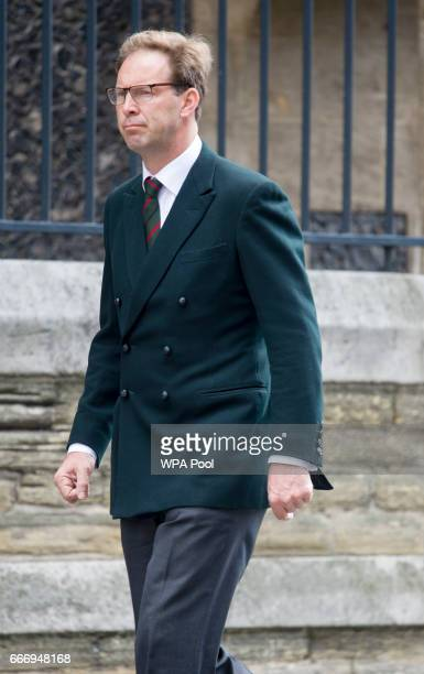 Tobias Ellwood MP attends the funeral of PC Keith Palmer on April 10 2017 in London United Kingdom A Full Force funeral is held for PC Keith Palmer...