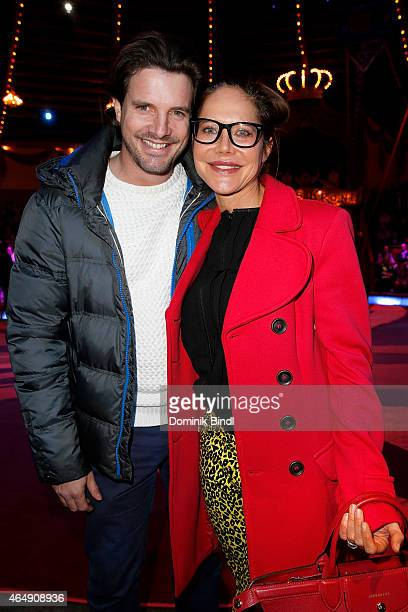Tobias Guttenberg and Doreen Dietel attend the Circus Krone March Premiere at Circus Krone on March 1 2015 in Munich Germany