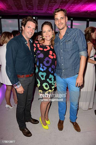 Tobias Guttenberg Doreen Dietel and Max von Thun attend the MGM HD CHANNEL Hollywood Sunset Party on July 29 2013 in Munich Germany
