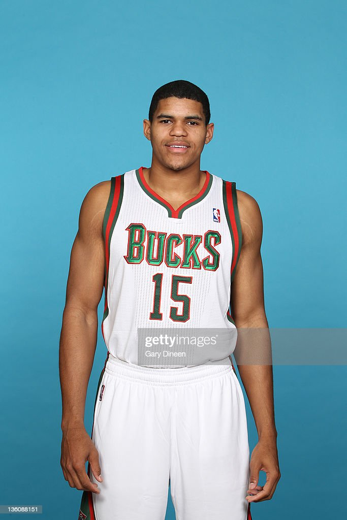 <a gi-track='captionPersonalityLinkClicked' href=/galleries/search?phrase=Tobias+Harris&family=editorial&specificpeople=6902922 ng-click='$event.stopPropagation()'>Tobias Harris</a> #15 of the Milwaukee Bucks poses for a portrait during media day at the Cousins Center on December 10, 2011 in St. Francis, Wisconsin.