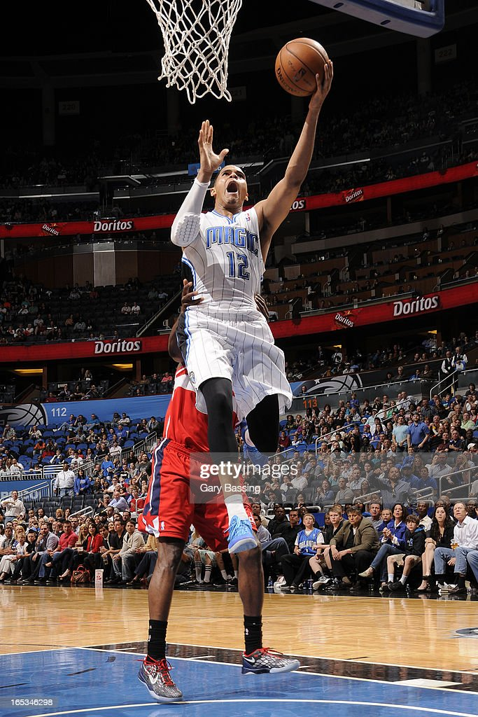 <a gi-track='captionPersonalityLinkClicked' href=/galleries/search?phrase=Tobias+Harris&family=editorial&specificpeople=6902922 ng-click='$event.stopPropagation()'>Tobias Harris</a> #12 of the Orlando Magic drives to the basket against the Washington Wizards on March 29, 2013 at Amway Center in Orlando, Florida.