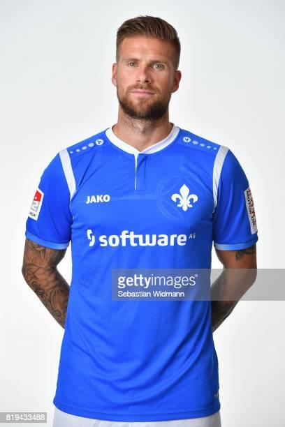 Tobias Kempe of SV Darmstadt 98 poses during the team presentation at MerckStadion am Boellenfalltor on July 20 2017 in Darmstadt Germany