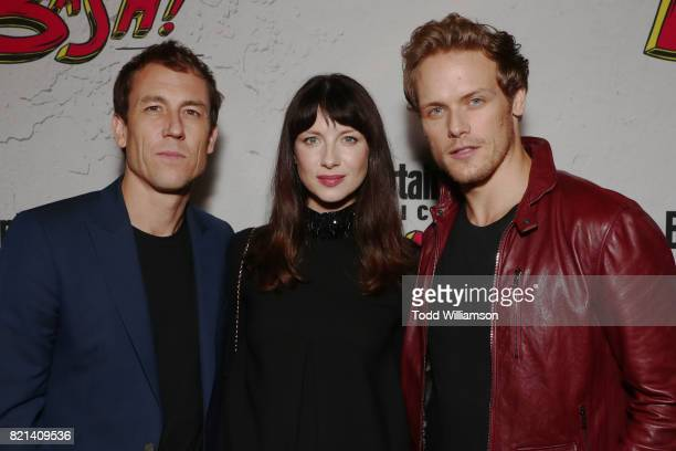 Tobias Menzies Caitriona Balfe and Sam Heughan at Entertainment Weekly's annual ComicCon party in celebration of ComicCon 2017 at Float at Hard Rock...