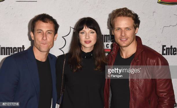 Tobias Menzies Caitriona Balfe and Sam Heughan attend Entertainment Weekly's annual ComicCon party in celebration of ComicCon 2017 at Float at Hard...