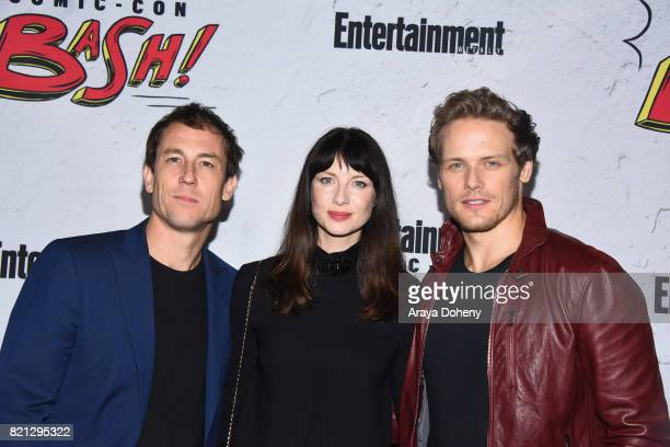 Tobias Menzies Caitriona Balfe and Sam Heughan attend the Entertainment Weekly's Annual ComicCon Party 2017 at Float at Hard Rock Hotel San Diego on...