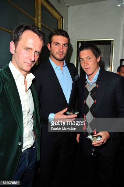 Tobias Meyer Stavros Niarchos and Vito Schnabel attend Tobias Meyer and SOTHEBYS host dinner at Mr Chow on May 9 2010 in New York City