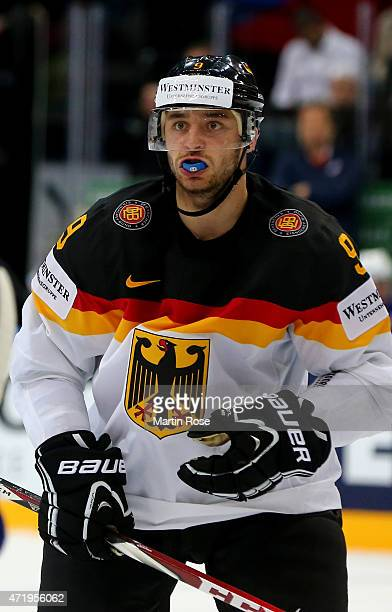 Tobias Rieder of Germnay skates against France during the IIHF World Championship group A match between France and Germany at o2 Arena on May 2 2015...