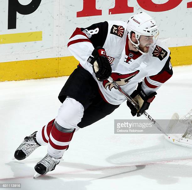 Tobias Rieder of the Arizona Coyotes skates during the game against the Anaheim Ducks on January 6 2017 at Honda Center in Anaheim California