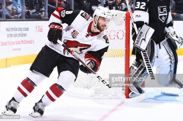 Tobias Rieder of the Arizona Coyotes skates during the game against the Los Angeles Kings on April 2 2017 at Staples Center in Los Angeles California