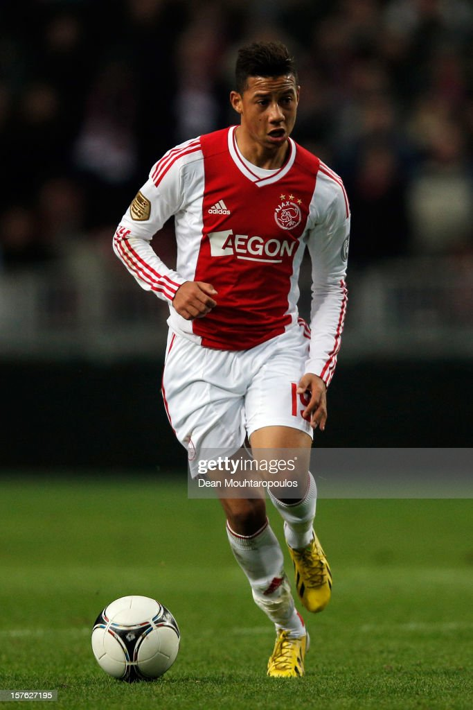 Tobias Sana of Ajax in action during the Eredivisie match between Ajax Amsterdam and PSV Eindhoven at Amsterdam Arena on December 1, 2012 in Amsterdam, Netherlands.