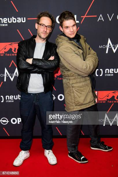 Tobias Schenke and guest attend the New Faces Award Film at Haus Ungarn on April 27 2017 in Berlin Germany